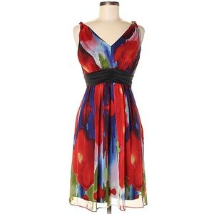 Beautiful & Vibrant Colored Fit & Flare Dress